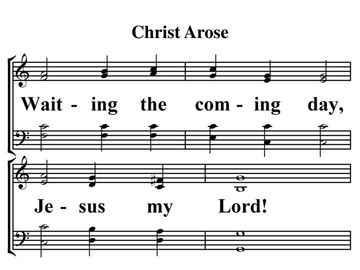 Christ arose1