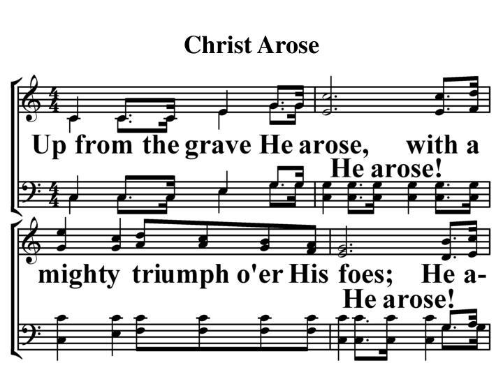 Christ arose2