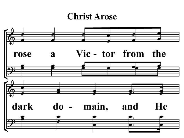 Christ Arose