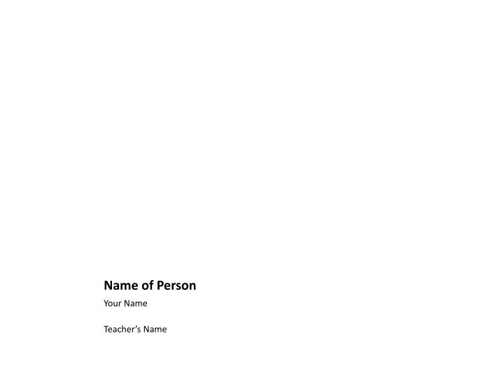name of person n.