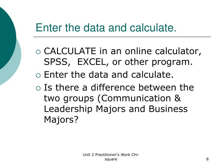Enter the data and calculate.