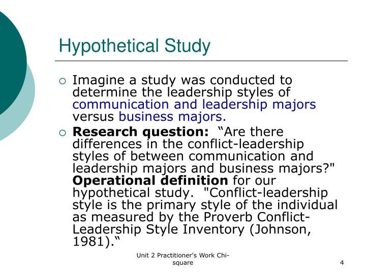 Hypothetical Study