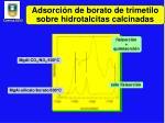 adsorci n de borato de trimetilo sobre hidrotalcitas calcinadas