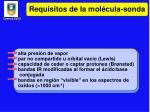 requisitos de la mol cula sonda