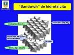sandwich de hidrotalcita