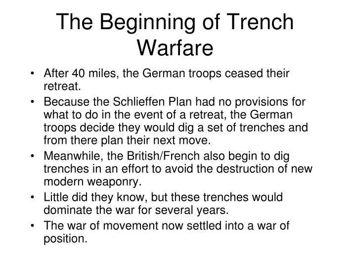 The Beginning of Trench Warfare