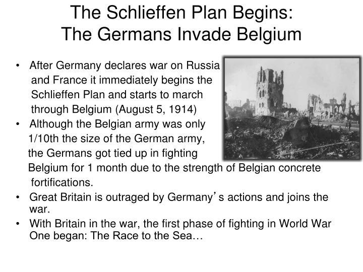 The Schlieffen Plan Begins: