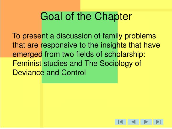 Goal of the Chapter