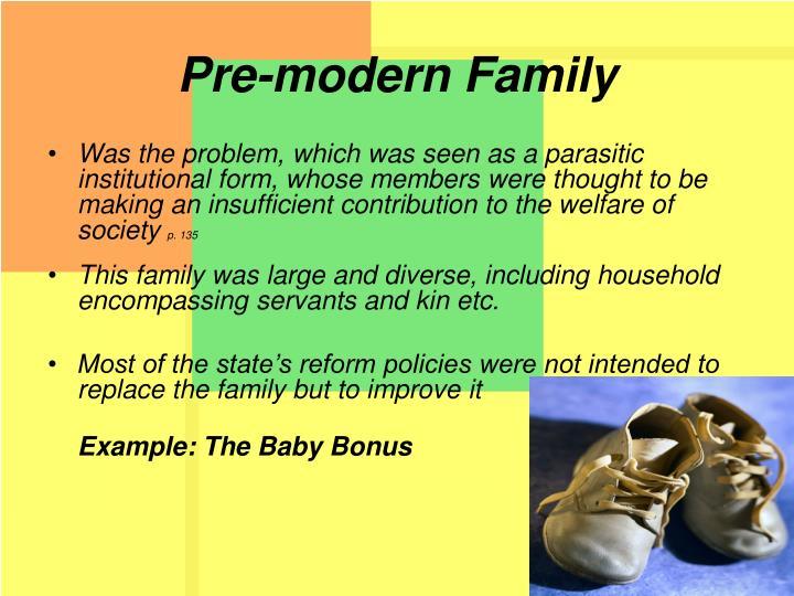 Pre-modern Family