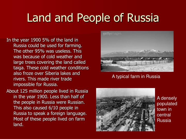 Land and people of russia