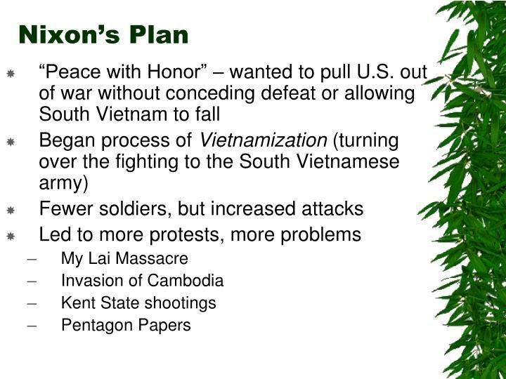 Nixon's Plan