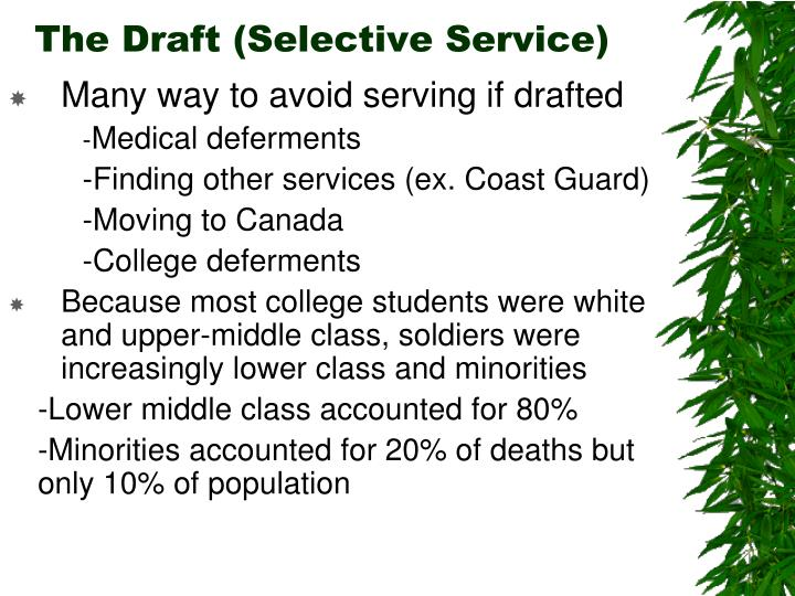 The Draft (Selective Service)