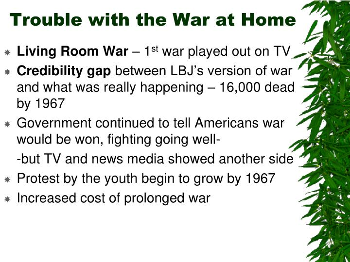 Trouble with the War at Home
