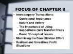 focus of chapter 8