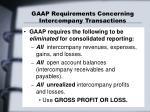 gaap requirements concerning intercompany transactions