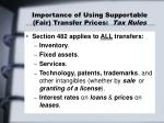 importance of using supportable fair transfer prices tax rules2