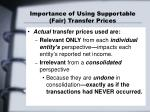importance of using supportable fair transfer prices1