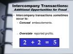intercompany transactions additional opportunities for fraud