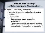nature and variety of intercompany transaction