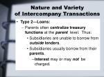 nature and variety of intercompany transactions1