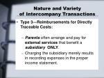 nature and variety of intercompany transactions2