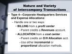 nature and variety of intercompany transactions3