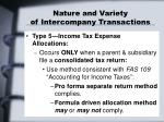 nature and variety of intercompany transactions4
