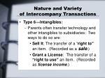nature and variety of intercompany transactions5