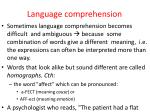 language comprehension1