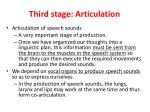 third stage articulation