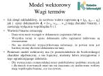 model wektorowy wagi term w