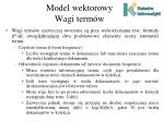model wektorowy wagi term w2