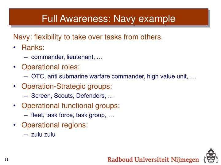 Full Awareness: Navy example