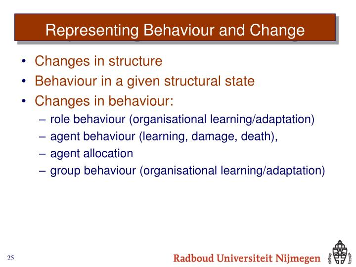 Representing Behaviour and Change
