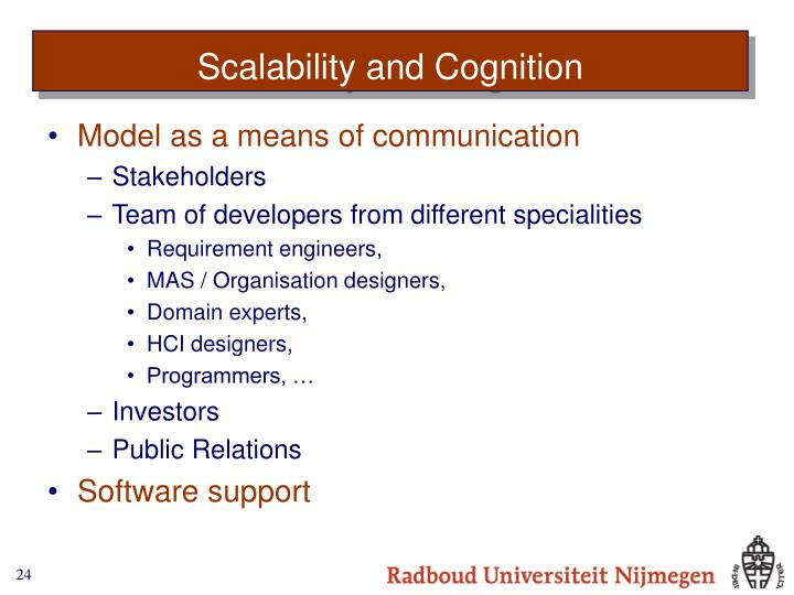 Scalability and Cognition