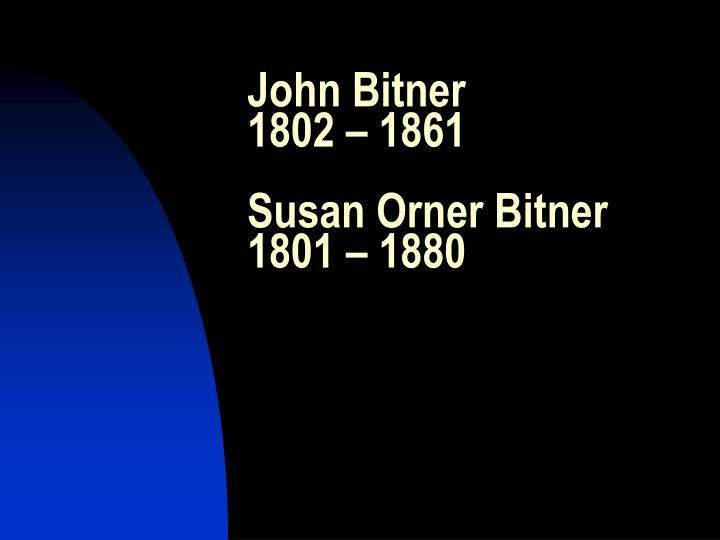 John Bitner