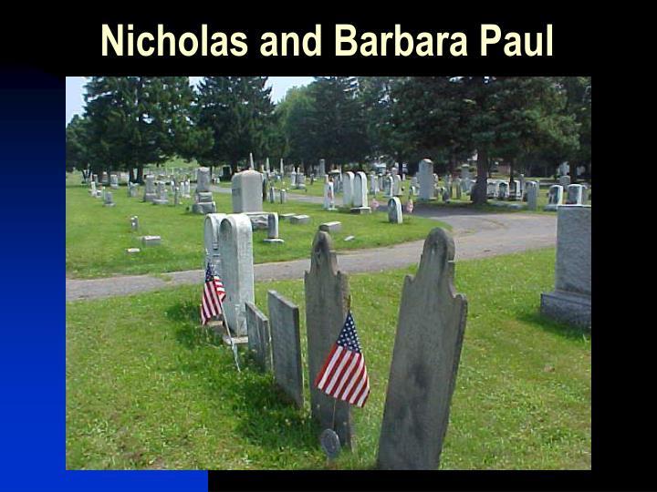 Nicholas and Barbara Paul