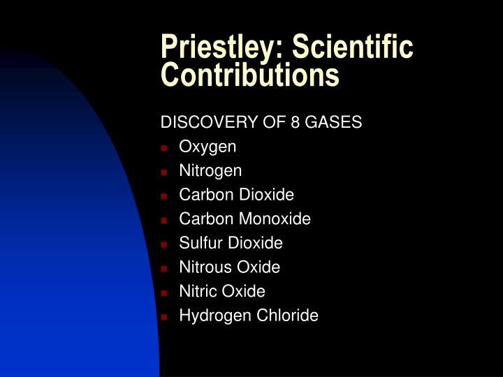Priestley: Scientific Contributions