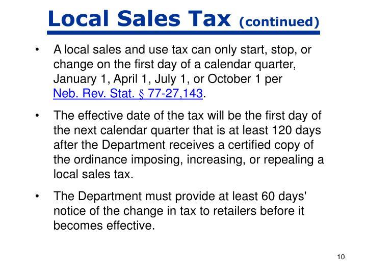 Local Sales Tax