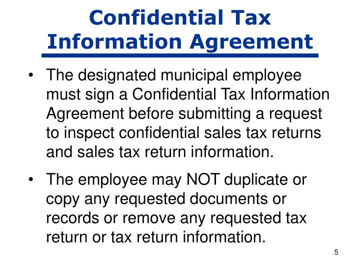 Confidential Tax