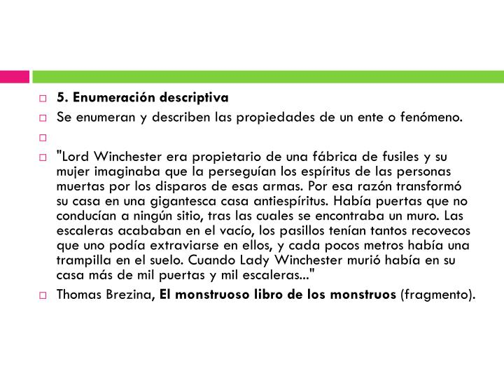 5. Enumeración descriptiva