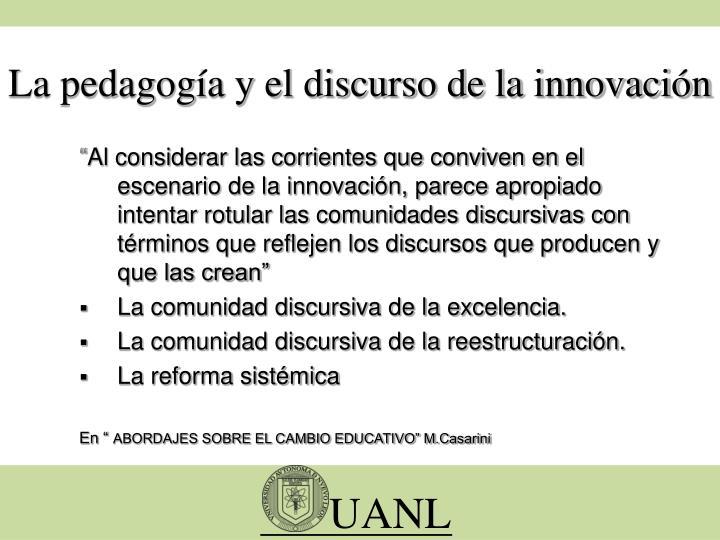 La pedagogía y el discurso de la innovación