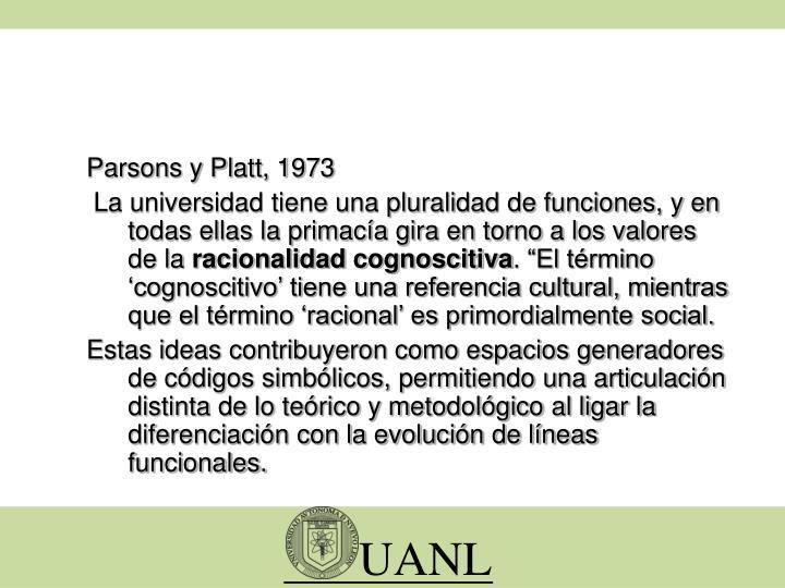 Parsons y Platt, 1973