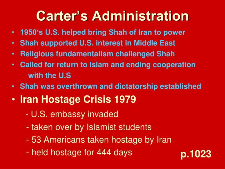 Carter's Administration
