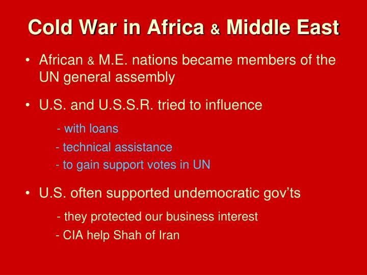 Cold War in Africa