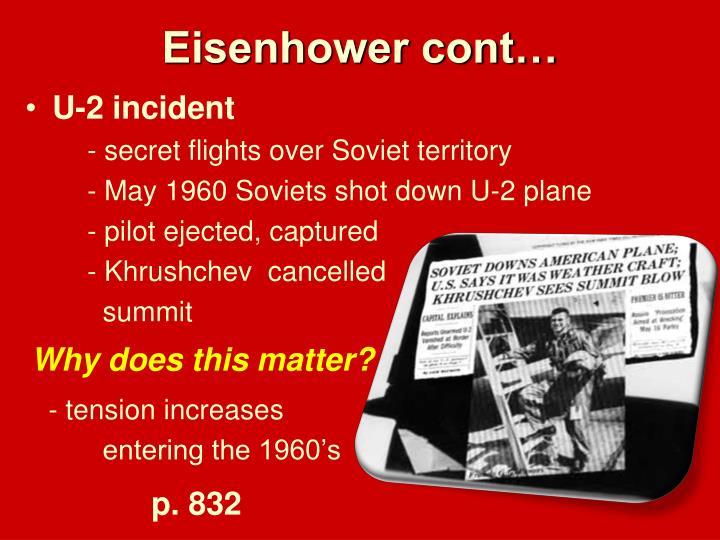 Eisenhower cont…