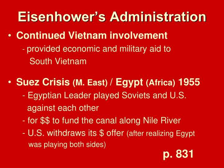 Eisenhower's Administration