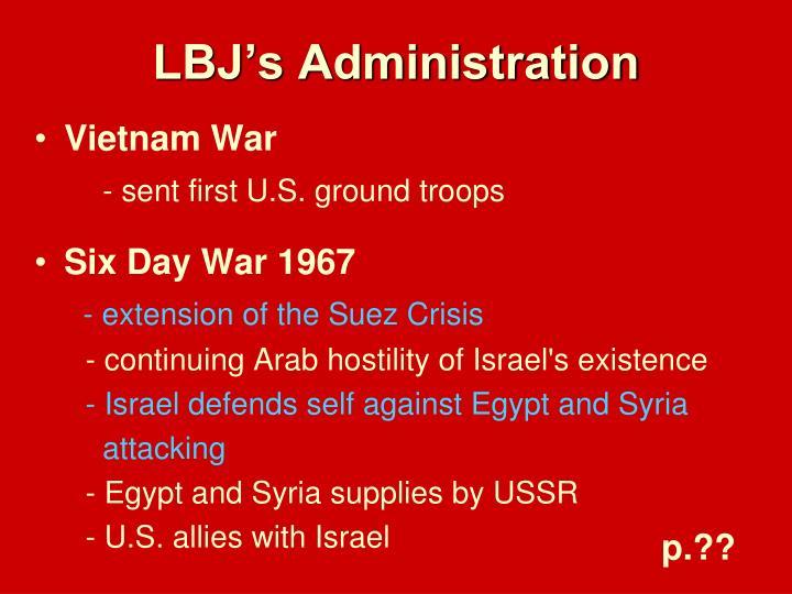 LBJ's Administration