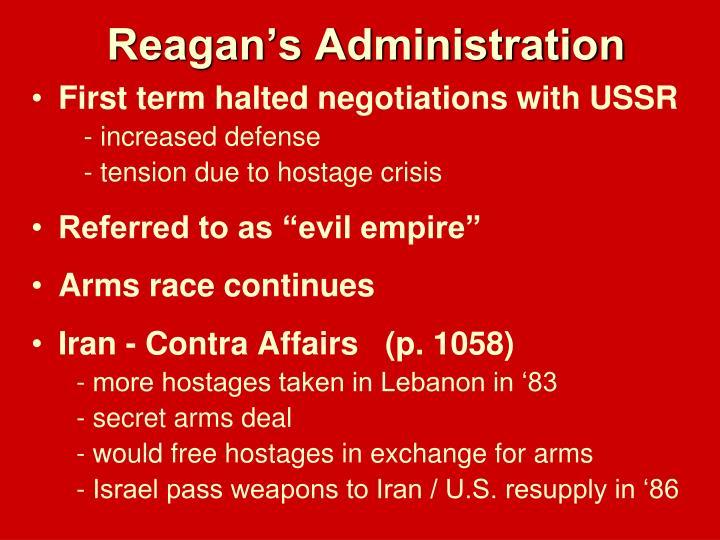 Reagan's Administration