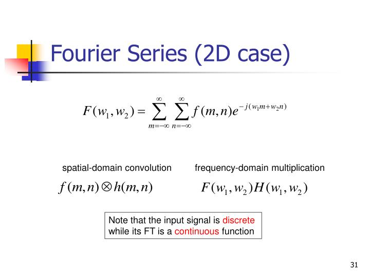 Fourier Series (2D case)